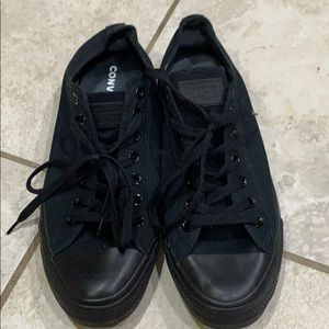 Converse Black All Star Low Top Sneakers 10